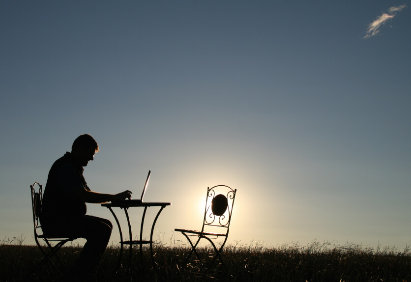 Working at home can be ideal for retirees.