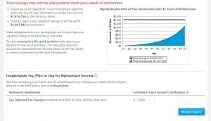 example of american funds' retirement calculator