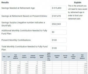 example of financial mentor retirement calculator